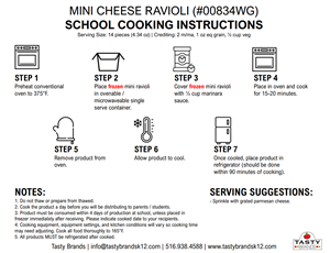 Mini Cheese Ravioli Cooking Instructions