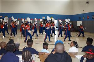 High School band with Bush students