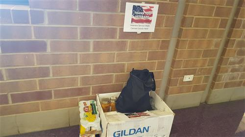 Donations for veterans